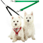 Double Dog Pet Lead Leash Splitter Coupler with Clip for Collar Harness