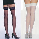 Fashion Sexy Women Super Thin Thigh High Silk Stocking With Lace Top New WC1003