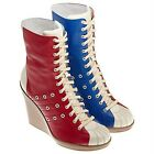 Adidas ObyO Jeremy Scott Bowling Wedge Boots Women's Red Blue Originals $350