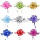 3 Large 50mm Organza Pull Bow Ribbons Wedding Party Bridal Giftwrap Multicolors
