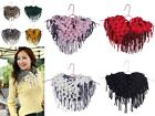 Fashion Tassel Knit Scarf Ladies Soft Cotton Chunky Neck Circle Loop Wrap Collar