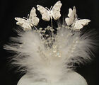 crystal spray pearl heart set butterfly feather wedding birthday cake topper