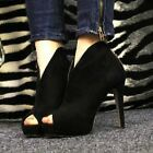 Hot Sexy Womens Platform Pumps Peep Toe Stiletto High Heels Ankle Boots Shoes