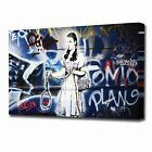 2348 Grafitti Canvas Banksy Street Modern Wall Art Print