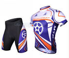 Cycling Bike Short Sleeve Clothing Bicycle Sport Wear Suit Jersey + Shorts M-3XL