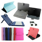 Universal USB Keyboard Or PU Leather Case For Android Tablet 7 8 9 9.7 10.1