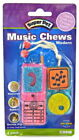 MUSIC CHEWS SMALL ANIMAL PET HAMSTER RAT MOUSE TREAT WOODEN CAGE TOY 3 DESIGNS L