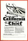 1926 Ad ~ SANTA FE Railroad RR~ 5 Daily Trains to California on the Chief Indian