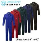 HEAVY DUTY 240GSM ZIP FRONT Poly/Cotton COVERALLS Boiler Suit Overall Work Wear
