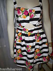 ATMOSPHERE STRIPE  ROSE PRINT  SUN DRESS SIZE 6, 12, 14 REDUCED