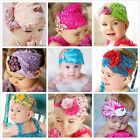 Infant Baby Toddler Feather Flower Diamond Hair Band Headband Headwear 9 Styles