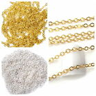 3/10M Gold Silver Acrylic Tiny Line Chain Nail Art Tip Sticker Design DIY Decor