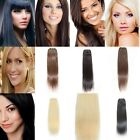 100g Full Head Remy Hair Weft Human Straight True Hair Extension 18inch 8 Colors