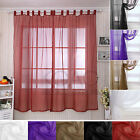 Voile Net Curtains Slot Top Plain Door Window Curtain & Blinds & Pelmets Panels