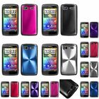 Pink/Black/Blue/Silver/Red/Purple Cosmo Back Hard Case For HTC Sensation 4G