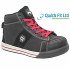 MENS LEATHER SAFETY ANKLE BOOTS  STEEL TOE CAP ANKLE WORK BOOTS SHOES TRAINERS
