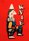 1956 ORIGINAL VINTAGE SWISS CIRCUS POSTER, KNIE - LEUPIN, BRIGHT COLORS