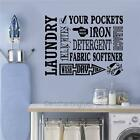 Laundry Room Decor Vinyl Wall Decals Sticker Words Lettering Wall Mural Art
