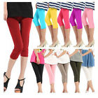 Perfect Women's 3/4 Length Stretch Leggings Pants Tights One Size