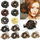Women Synthetic Fiber Pony Tail Hair Extension Wig Bun Scrunchie Hairpiece Lot