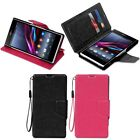 New Leather Wallet Stand Magnetic Hard Flip Luxury Case Cover For Sony Xperia Z1