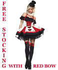Queen of Hearts Halloween Fancy Dress Costume Alice In Wonderland Costume Outfit