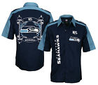 Seattle Seahawks NFL Embroidered Men's Button Down Shirt, Navy