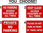 NO PARKING WARNING KEEP CLEAR SIGNS 40cm x 30cm EXTRA THICK 5mm RIGID PLASTIC