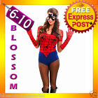 I41 Spider Girl Spidergirl Superhero Hero Halloween Fancy Dress Adult Costume