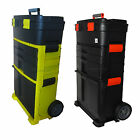 FoxHunter Mobile Roller Work Shop Chest Trolley Storage Tool Box Toolbox Plastic