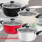 MORPHY RICHARDS EQUIP 24cm STAINLESS STEEL CASSEROLE STOCK STEW POT GLASS LID