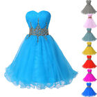 2014 Lady Girls Short Mini Dress sequins Prom Ball Gown Wedding Evening Cocktail