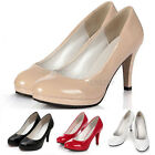 New Womens Classic Casual Work Office High Heels Stiletto Platform Pumps Shoes