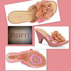Born Crown  Layla  PINK/PEACH Metallic  Leather Sandals Sizes; 7,8,9  NEW
