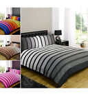 Striped Poly Cotton Duvet Cover Modern Quilt Cover Bedding Bed Set