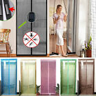 Magic Magnetic Door Curtains Mesh Bug Insect Mosquito Fly Screen Hands Fastening