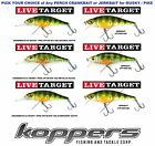 Koppers Live Target Yellow Perch Crankbait Jerkbait 6.25 Inch Musky Pike YP158