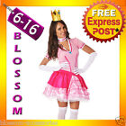 I46 Princess Peach Super Mario Bros Nintendo Games Fancy Dress Up Party Costume
