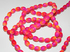 2-Tone Oval Glass Beads - Full String (BD051) FREE POSTAGE