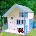 Shire Crib Playhouse with Verandah  -  Wendy House Childrens Kids Den (7' x 6')