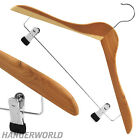 Premium Natural Cedar Wood Clip Hangers Coat Clothes Trouser 44cm Hangerworld