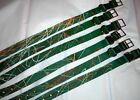 VINTAGE NEW COYOTE PAINT SPATTER GREEN NYLON DOG COLORS DOUBLE BUCKLE