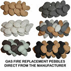 Gas fire Pebbles Black Beige Grey White Replacement BioFuels LPG Stones Coal RCF