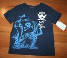 NWT Boys OSH KOSH B'GOSH Navy Blue Skull Pirate Captain No 1895 ~Sz 5 or 6~