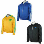 Adidas Hooded Flock Herren Track Top Jacket Trainingsjacke Sweatjacke Fullzip