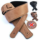 Real Vintage Leather 1.3m Guitar Strap: UK Handmade for Bass/Acoustic/Electric
