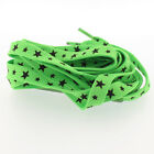 Star Pint Flat Shoe Laces - For Sneakers Trainers Skaters Fashion Shoelaces