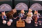 SELECTION OF 9 BRAMBLY HEDGE HANTEL MINIATURE PEWTER FIGURES JILL BARKLEM