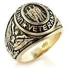MENS GOLD EP MILITARY UNITED STATES VETERAN RING