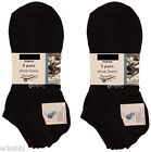 20 Pairs Mens George Black Trainer Socks Liners Shoe Sizes 6-12 Cotton Rich